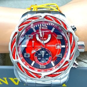 FIRM PRICE-INVICTA CHRONOGRAPH BOLT CABLE WATCH